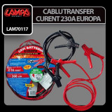 Cablu transfer curent Europa - 300 cm - 230 A - 16 mm2 Profesional Brand - Cablu Curent Auto