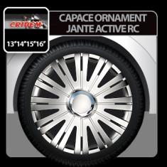 Capace ornament jante Active RC 4buc - Argintiu - 14' Profesional Brand - Capace Roti, R 14