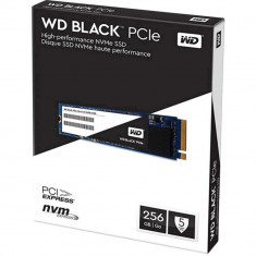 SSD Western Digital WD, 256GB, Black, M.2 2280 PCI Express, rata transfer r/w 2050mbs/700mbs