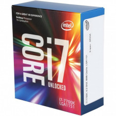 Procesor Intel Core i7-7700K 4.2GHz Quad-Core, BX80677I77700K, LGA1151, 64-bit, 4 nuclee, 4.2GHz/4.5GHz, 8MB, Intel - Procesor PC