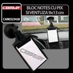 Bloc notes cu ventuza Carpoint - 9x13 cm Profesional Brand - Ornamente interioare auto