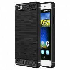 Husa silicon TPU Huawei P8lite (2015) Carbon - Husa Telefon