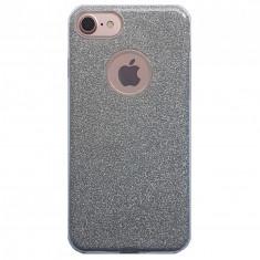 Husa 3 in 1 cu sclipici Iphone 7 rosu - Husa Telefon