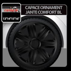 Capace ornament jante Comfort BL 4buc - Negru - 15' Profesional Brand - Capace Roti, R 15