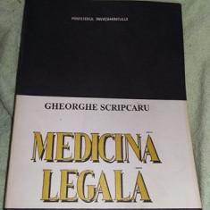 Carte MEDICINA LEGALA,Gheorghe Scripcaru,1993,T. GRATUIT