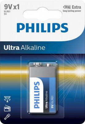 Baterie Philips Ultra Alkaline 9V, 1 buc foto