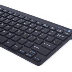 Gembird bluetooth slimline compact keyboard, black, US layout - Tastatura PC Gembird, Fara fir