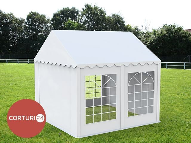 3X4 M CORT EVENIMENTE PROFESIONAL ECONOMY, PVC 500g/m² ALB