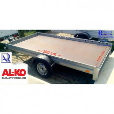 Remorca auto 1 ax 750 kg 300x160x10 * in rate* in stoc*