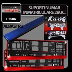 Suporti numere inmatriculare Albastru 2buc Profesional Brand - Suport numar Auto