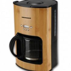 Cafetiera Heinner HCM-BB1080, display LCD, capacitate: 1.5L (12-15 cesti), putere: 915-1080W, design bambus,