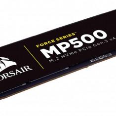 SSD Corsair Force MP500, 480GB, M.2 2280 NVMe PCIe, MLC NAND, rata transfer r/w:, PCI Express