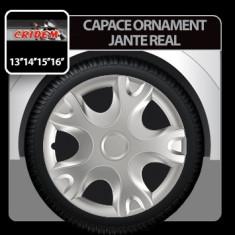 Capace ornament jante Real 4buc - Argintiu - 15' Profesional Brand - Capace Roti, R 15