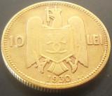 Moneda rara 10 Lei - ROMANIA, anul 1930 *cod 5073 KN:  Kings Norton/Birmingnam