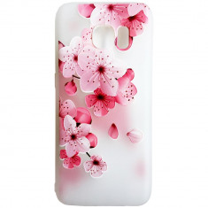 Husa Silicon, 3D Relief, Flower Pink, Huawei P10