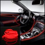 Fir Neon Rosu - Lungime 5M - Iluminare Auto - Lumina Ambientala