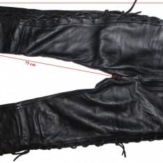 Pantaloni moto piele, sireturi, dama, marimea 42(L)