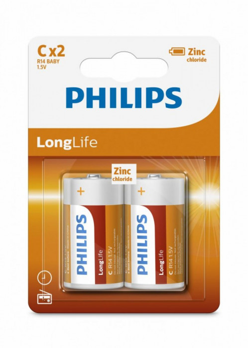 Philips LongLife C 2-blister foto mare