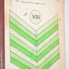 Limba Romana, Gramatica - manual pentru clasa a VIII (1982) - Manual scolar, Clasa 8
