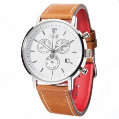 Ceas barbatesc Detomaso Milano White/Brown, Casual