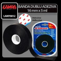 Banda dublu adeziva - 16 mm x 5 m Profesional Brand