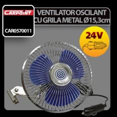Ventilator oscilant cu grila metal Carpoint 24V Profesional Brand
