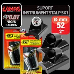 Suport instrument stalp SX1 (52 mm) - Negru - Stanga Profesional Brand - Ceas Auto