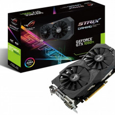 Placa video Asus NVIDIA GeForce GTX 1050 TI, STRIX-GTX1050TI-4G-GAMING, PCI Express 3.0, GDDR5 4GB, - Placa video PC