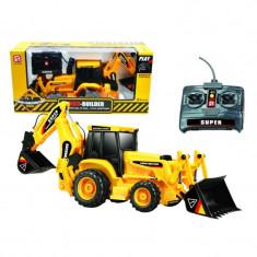 Excavator cu telecomanda, scara 1:16, sunete realiste - Vehicul