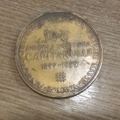 MEDALIE COMEMORATIVÃ LA 100 DE ANI DELA NASTEREA CAPITANULUI - Gravor V.G. - Jubiliare