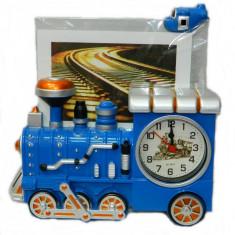 Ceas Locomotica 3D cu Rama Foto Ideal Gift - Ceas de perete