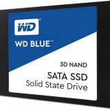"""SSD Western Digital WD, 500GB, Blue, SATA 3.0, 3D NAND, 7mm, 2.5"""", rata transfer r/w 560mbs/530mbs"""
