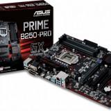 Placa de baza Asus Socket LGA1151, PRIME B250-PRO, 4*DDR4 2400/2133MHz, HDMI/DVI/RGB, 1*PCIe 3.0/2.0 x16,