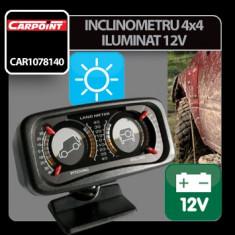 Inclinometru 4x4 iluminat 12V Carpoint Profesional Brand - Ceas Auto