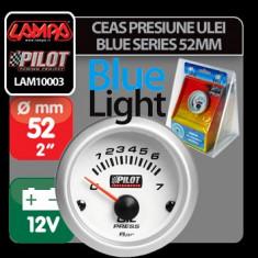 Ceas presiune ulei Blue series 52 mm Profesional Brand - Ceas Auto