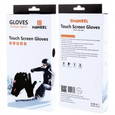 Manusi iarna Touchscreen Sensitive Haweel HWL-8001 Outdoor Sports Marimea L Blister Originale - Manusi touchscreen