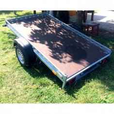 Platforma/Remorca auto 750 kg mono ax 240x135x10 *in rate *pe stoc