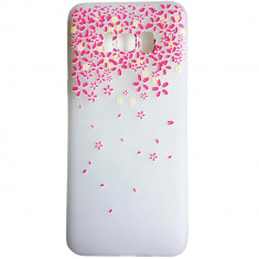 Husa Silicon, 3D Relief, Leaf Pink, Samsung Galaxy S8 Plus