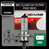 Bec clasic H4 75/70W P43t 24V 4Cars 1buc Profesional Brand