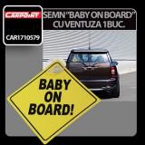 Semn - Baby on board - cu ventuza 1 buc. Profesional Brand
