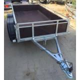 PROMOTIE !!! Platforma/Remorca auto 750 kg dublu ax 240x125x40 *in rate *pe stoc - Utilitare auto
