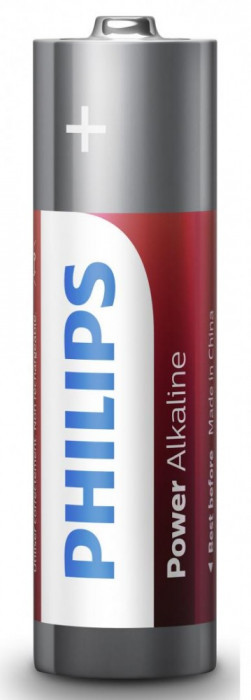 Philips Power Alkaline AA 4-blister foto mare