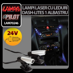 Lampi laser cu leduri 24V Dash-Lites 1 - Albastru Profesional Brand - Ornamente interioare auto