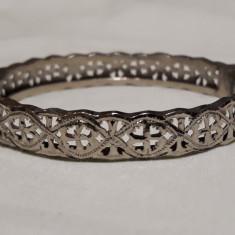 Bratara argint VECHE gravata manual SUPERBA vintage SPLENDIDA de EFECT eleganta