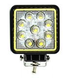 Proiector LED Patrat 27W cu Angel Eyes Spot Beam 30° 12/24V AL-051017-2 - Proiectoare tuning, Universal