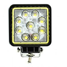 Proiector LED Patrat 27W cu Angel Eyes Spot Beam 30° 12/24V AL-051017-2