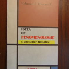 Ideea de fenomenologie - Edmund Husserl (2002)
