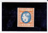 ROMANIA 1869 LP 28 MI 24 CAROL I FAVORITI 25 BANI ; NEOBLITERAT , EXPERTIZAT, Regi, Nestampilat