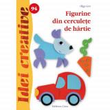 Figurine din Cerculete de Hartie 94 Idei Creative - Carte de colorat