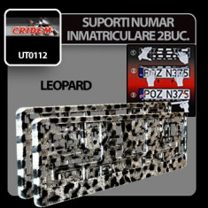 Suporti numere inmatriculare Leopard - 2buc Profesional Brand - Suport numar Auto
